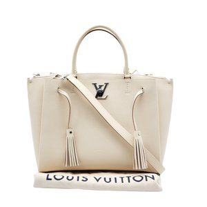 Authentic Louis Vuitton Lock Me  Leather Tote Bag